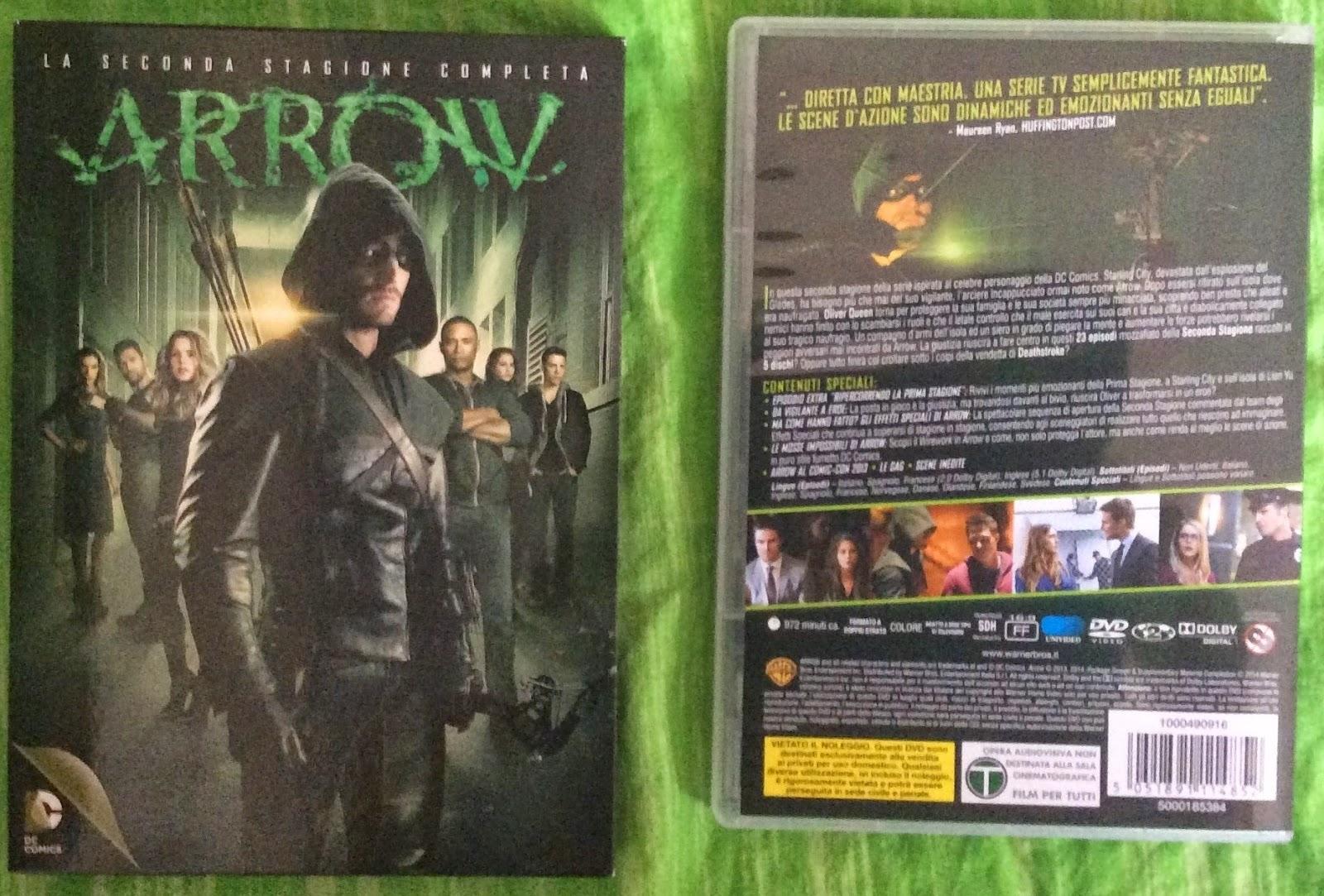 ARROW - SECONDA STAGIONE, RECENSIONE DEL COFANETTO CON LA SERIE TV SU DVD