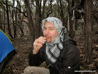 Me chowing down on some bacon!