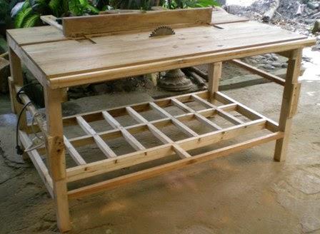 Perabot Kayu Sederhana Simply Wood Furniture Meja