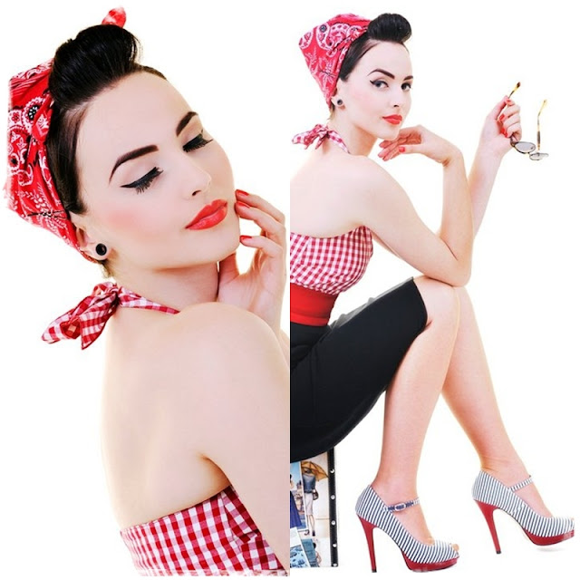semi mohawk hairstyle : Idda van Munster: Rosie the Riveter hairstyle: We Can Blog It!