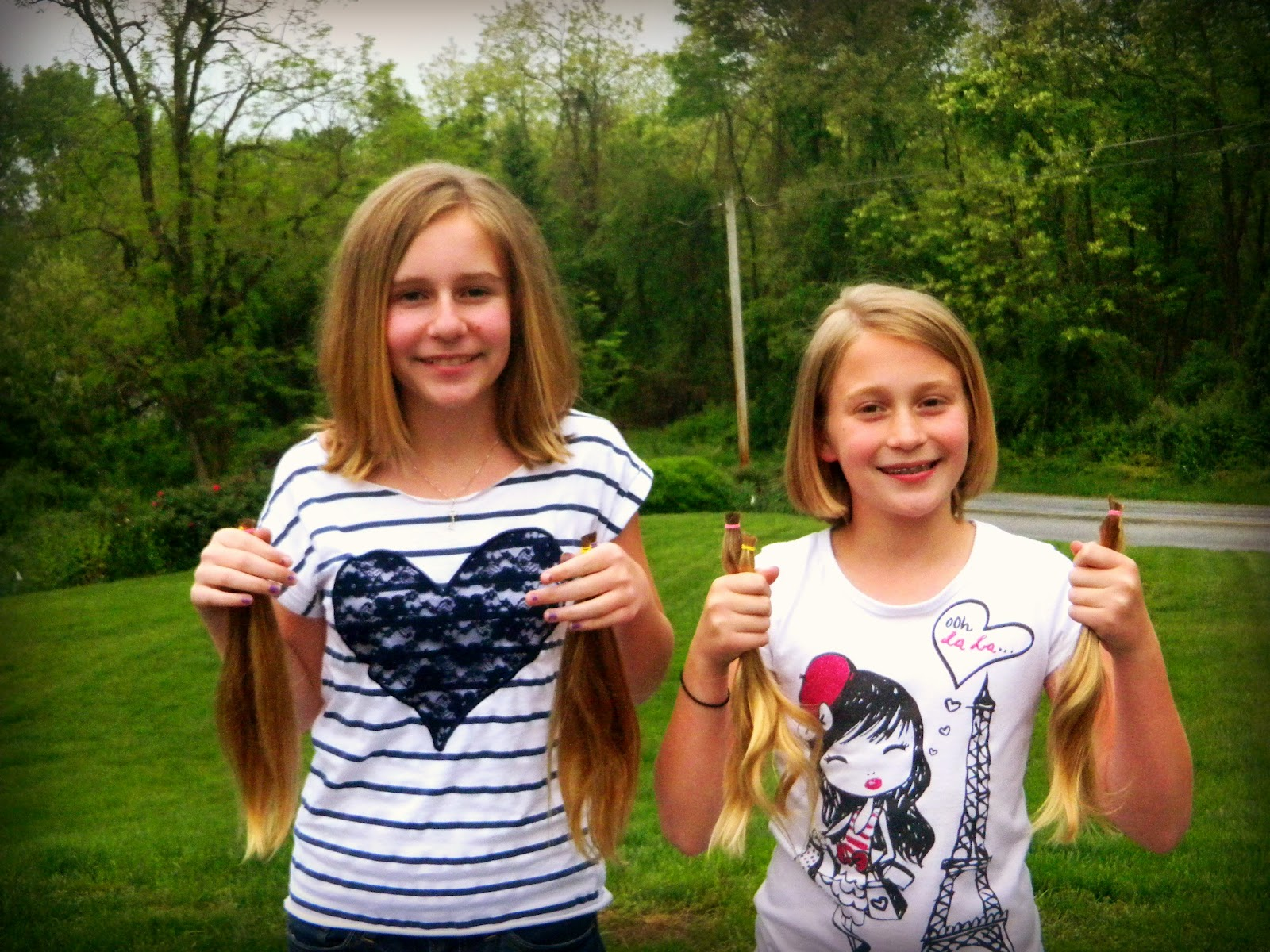 8 ponytails is almost enough hair to make one wig for a cancer patient!