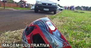 Motociclista sofre acidente grave na Avenida Brasil