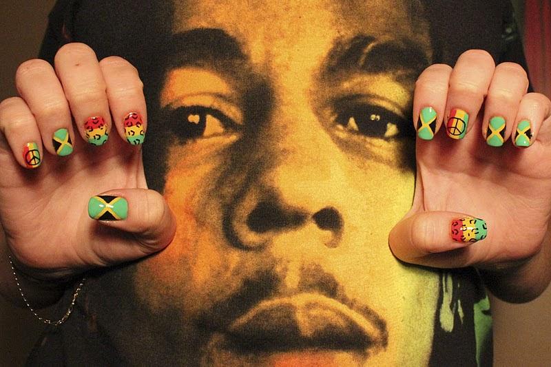 Bob Marley Inspired Nail Art: Nails i m hands hot nice awesome ...
