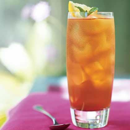 a tall glass of ice tea