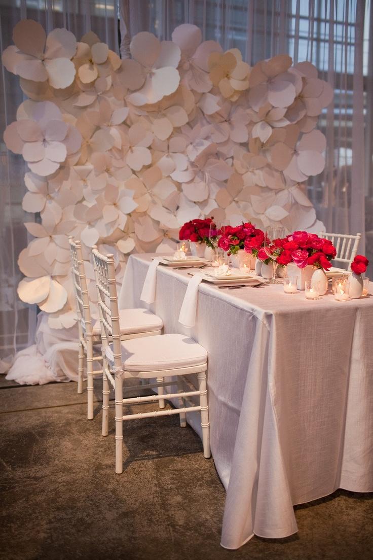 Ideias de decora o com as flores gigantes de papel - Decorar con papel ...