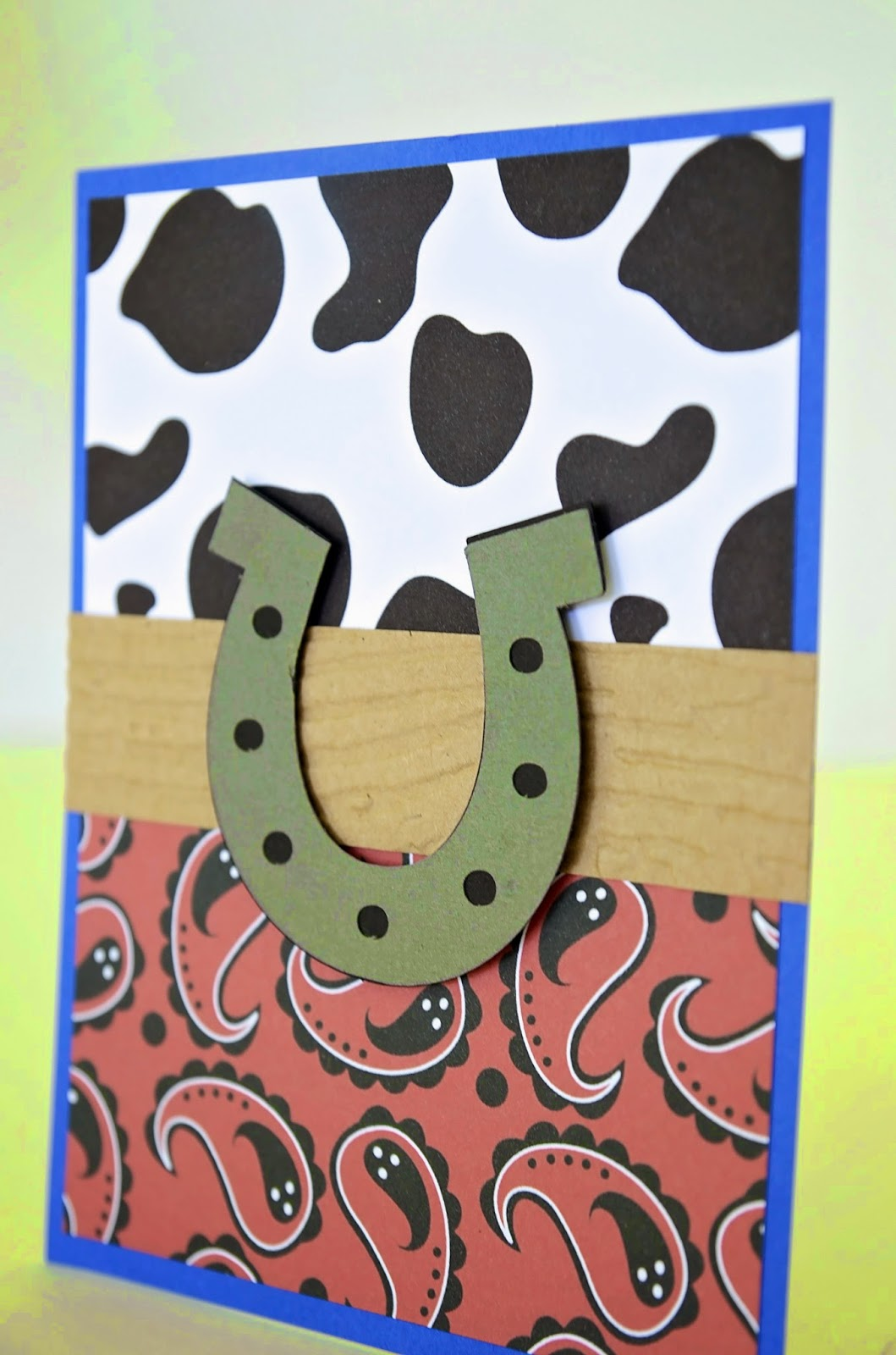 cowboy handmade invitations