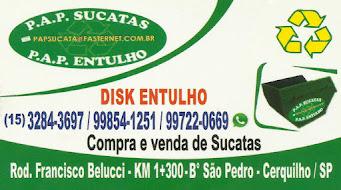 P.A.P SUCATAS P.A.P DISK ENTULHO COMPRA E VENDA DE SUCATAS LOCAÇÃO DE CAÇAMBA