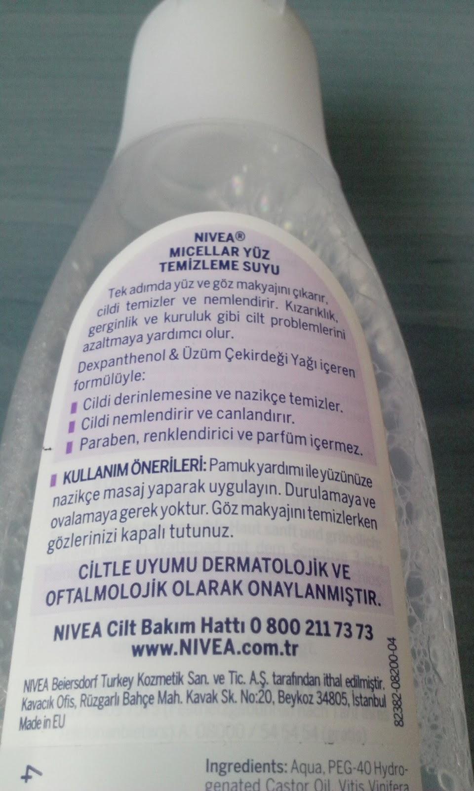 nivea micellar makyaj temizleme suyu