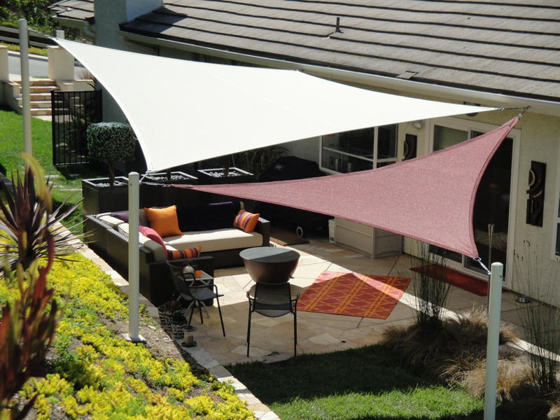 The 2 minute gardener photo shade sails for Shadesails com