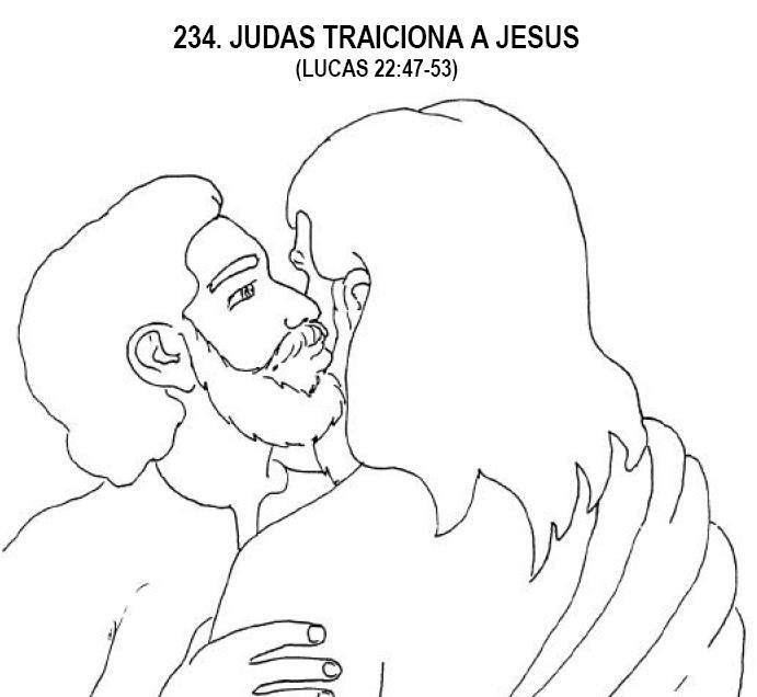 Dibujo Para Colorear De La Traicion De Judas
