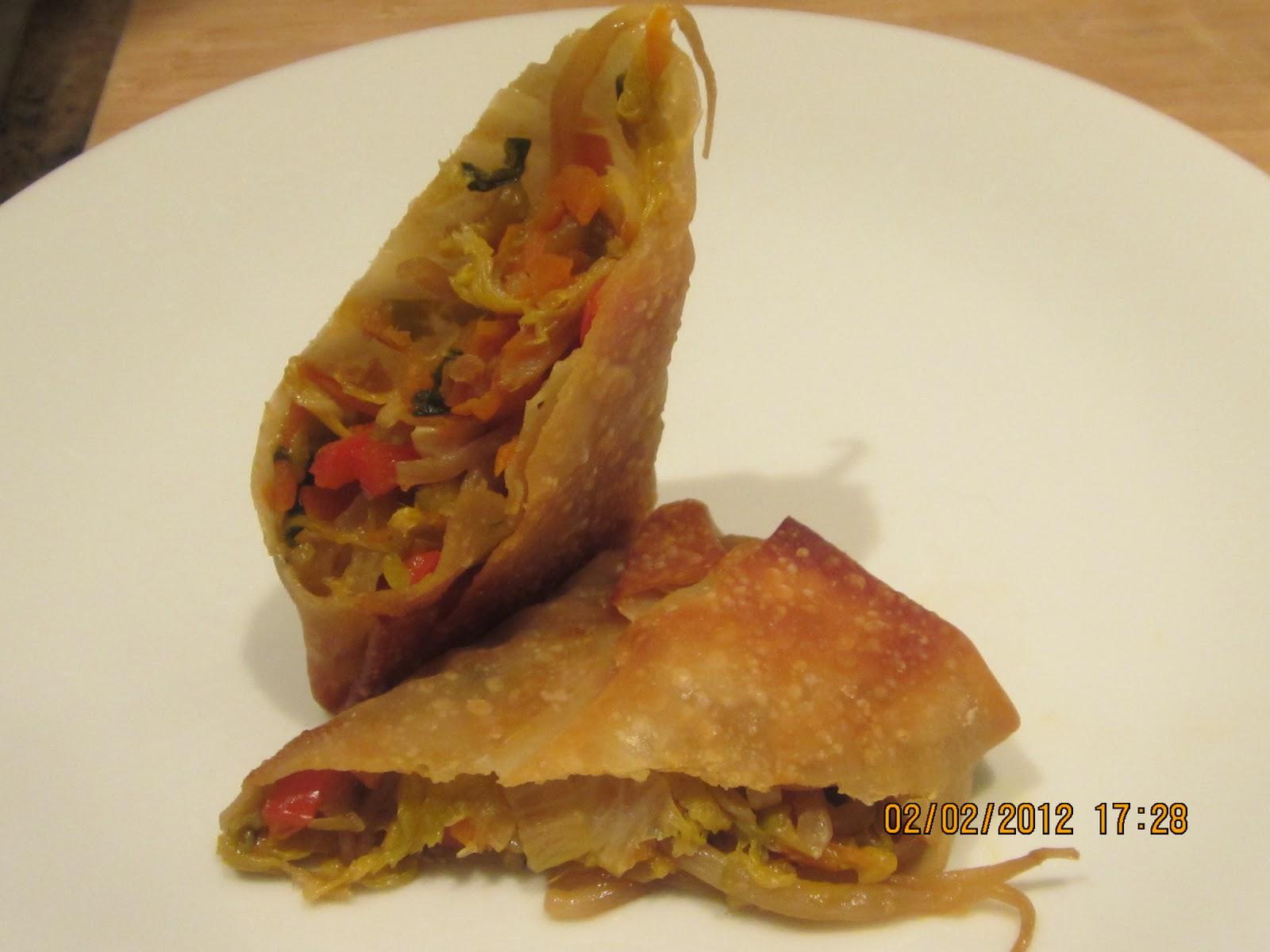 The Kitchen Diva: Baked Vegetable Egg Rolls