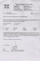Carta de invitacion para Myanmar