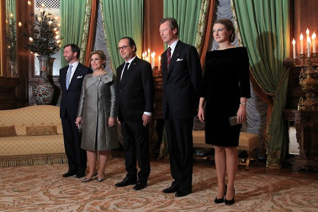 Hereditary Grand Duke Guillaume of Luxembourg and Grand Duchess Stéphanie