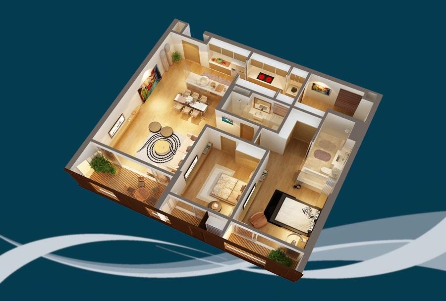 Thiết kế căn hộ CH2 - 152m2 Chung cư Dolphin Plaza