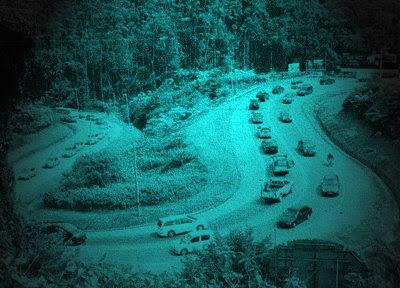 Traffic jam in Cameron Highlands