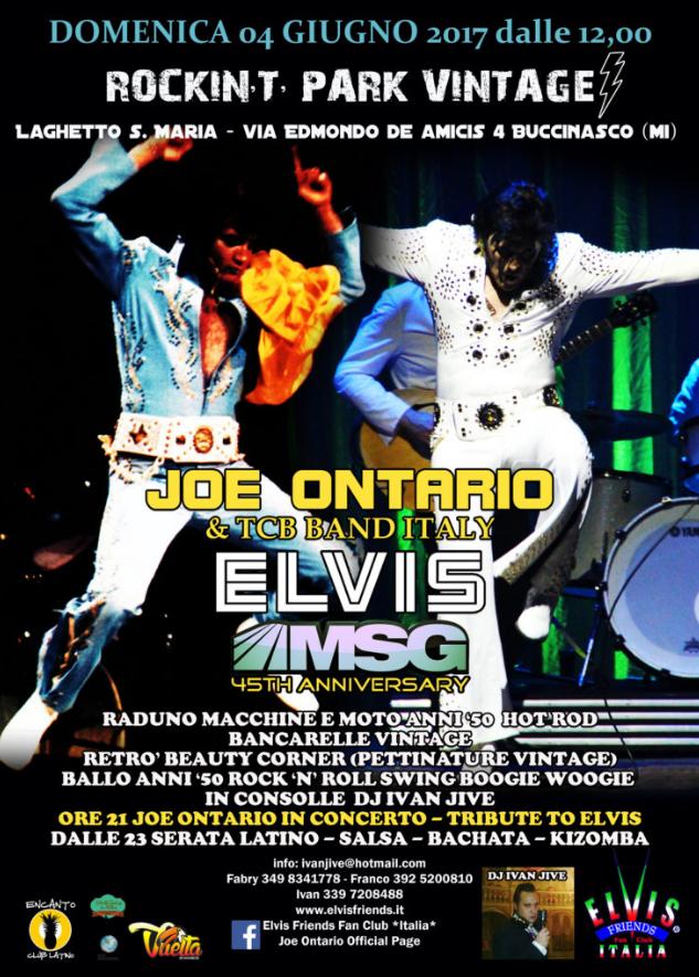 Rockin T Park Vintage MSG 45th - Elvis Tribute