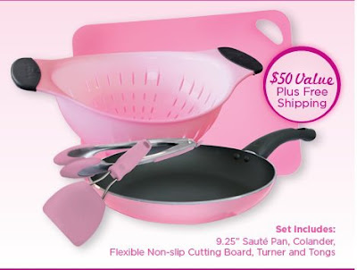 Cooking Up Early Detection P&G pink cookware offer