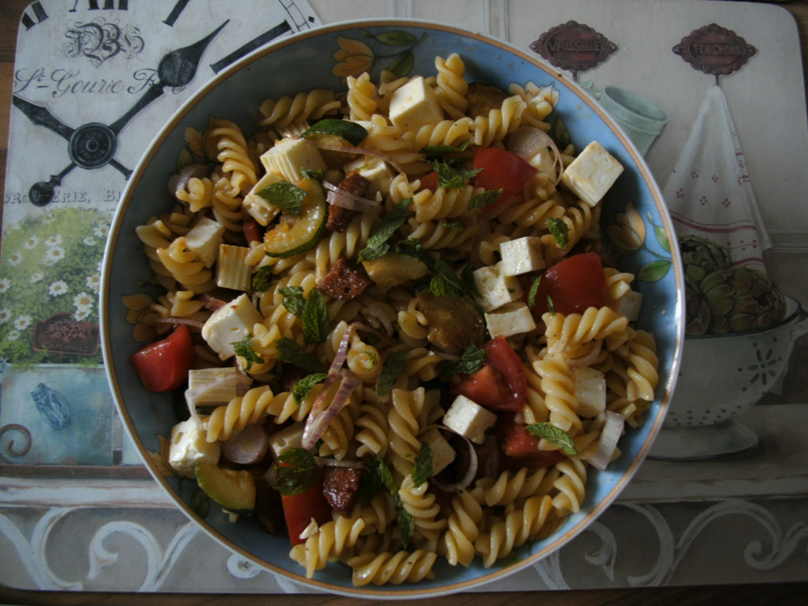 ... the World: Non-rhyming Chorizo Pasta Salad with Courgette and Tomatoes