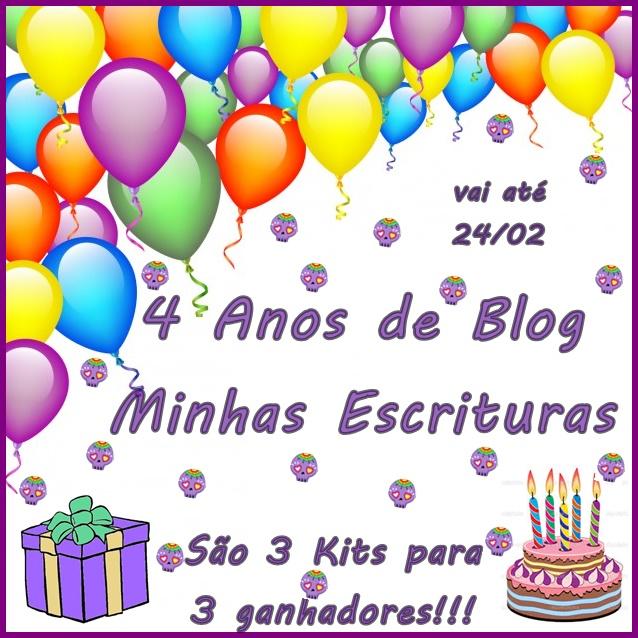 Promoção 4 Anos do Blog Minhas Escrituras