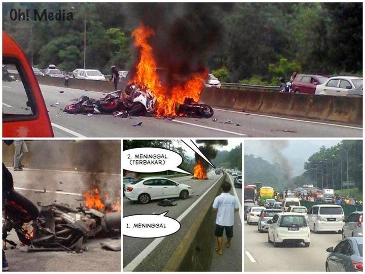 12 Gambar Allahyarham Hazalli Yang Maut Superbike Terbakar Di Karak