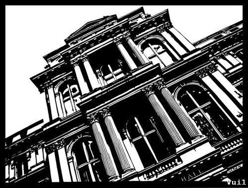 Cắt giấy thủ công hình tòa nhà
