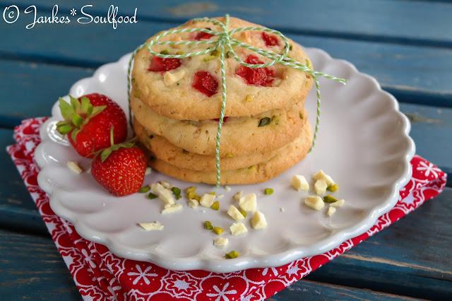 Erdbeer-Pistazien-Cookies Jankes*Soulfood