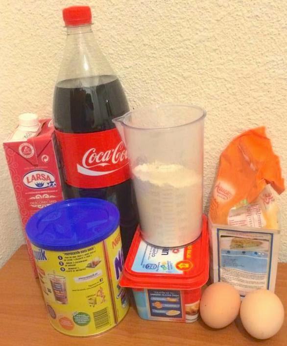 bizcocho de coca-cola