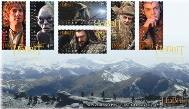 the hobbit, stamp, new zealand