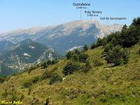 El Comabona i el Puig Terrers des de la casa de Rocadecans. Autor: Ricard Badia