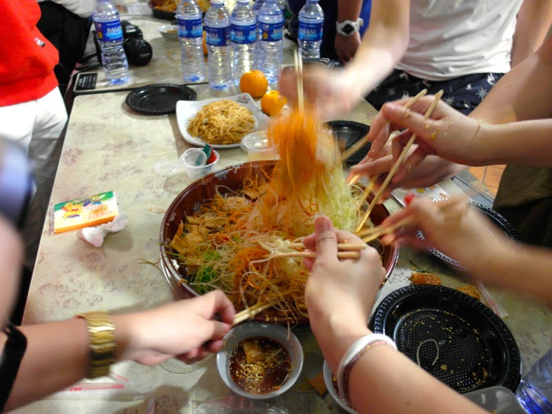 Chinatown Food Street Supper Reunion Event 2015 Yu Sheng Lohei Lunarrive Blog
