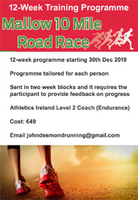 12-wk training programme for the Mallow 10 mile race
