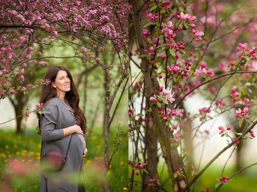 h&m wiosna sesja ciążowa