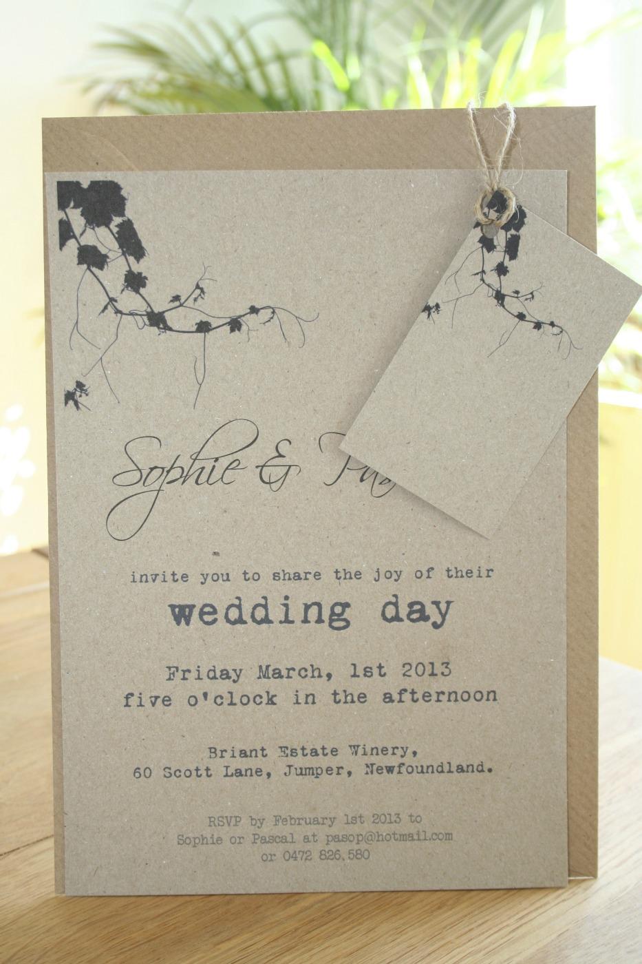 vineyard wedding invitations paper papel papier en