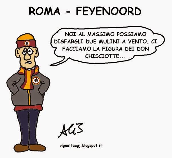 Roma-Feyenoord, A.S.Roma, , hooligan, umorismo