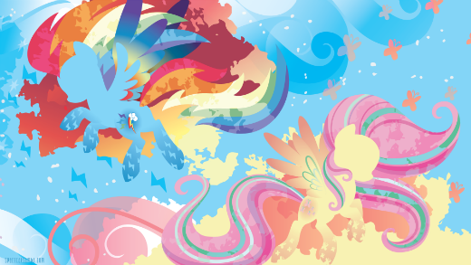 Rainbow Powered Rainbow Dash and Fluttershy