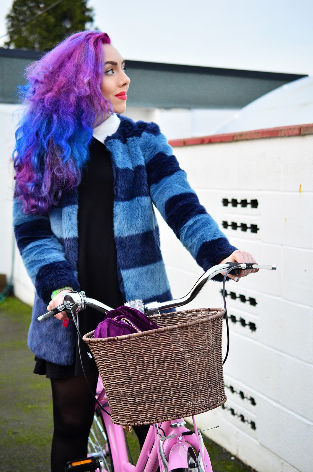 Pink purple blue hair fashion beauty blogger