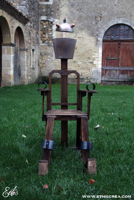Fabrication d 39 une chaise lectrique ethis crea - Fabrication d une chaise en bois ...