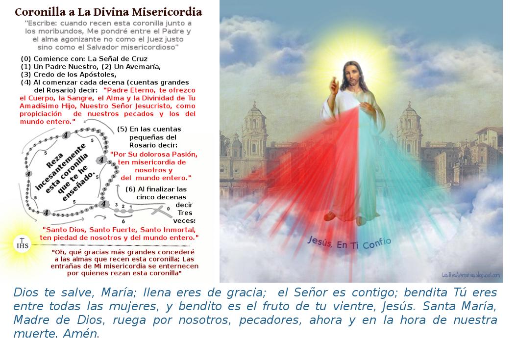 imagen de jesus con la coronilla a la divina misericordia