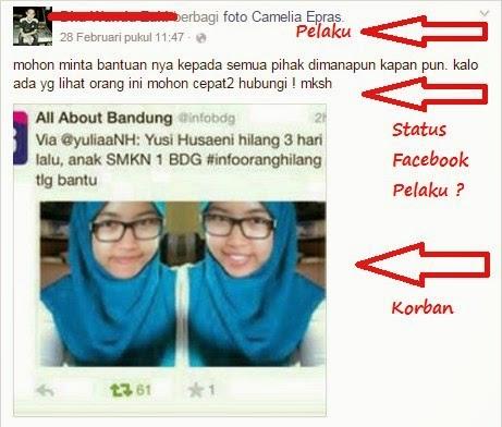Status Facebook Pelaku WZ ?