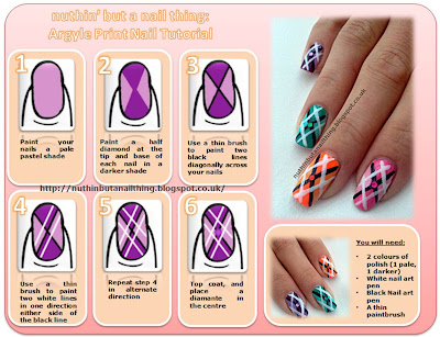 Argyle nail tutorial