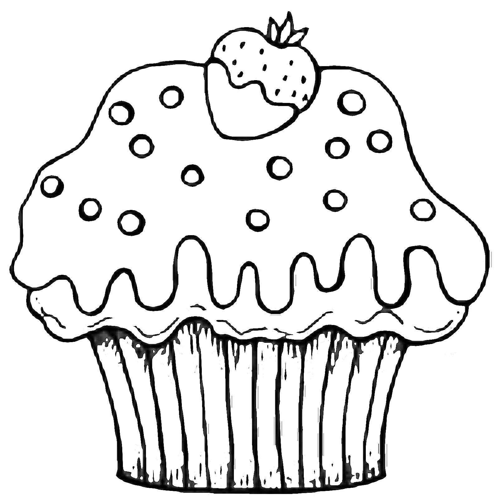voces cupcakes para colorir