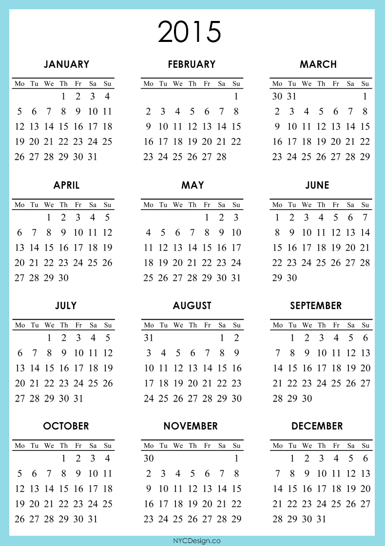 790 x 1120 png 233kB, Free Year Planner 2015 Printable/page/2 | Search ...