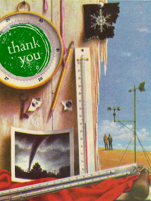 retro illustration for thank you card
