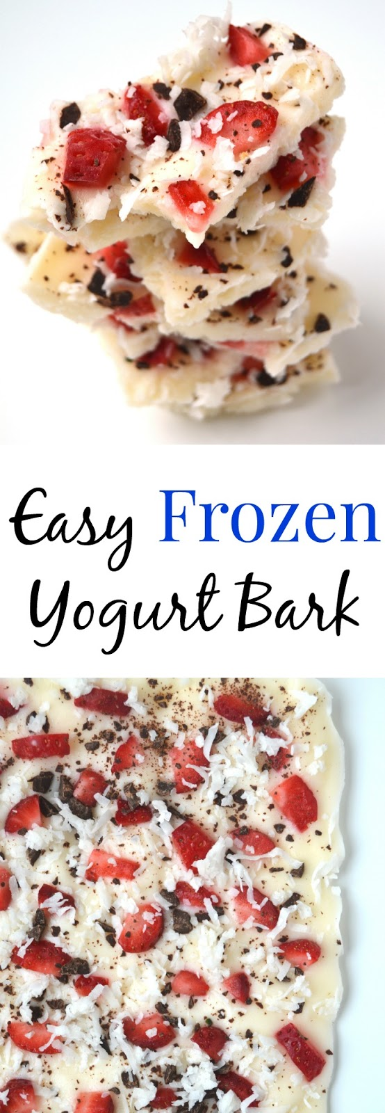 Frozen Yogurt Bark- easy, healthy and makes a great Valentine's Day dessert! www.nutritionistreviews.com