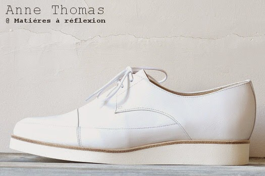Derbies cuir blanc Anne Thomas chaussures : la derby London