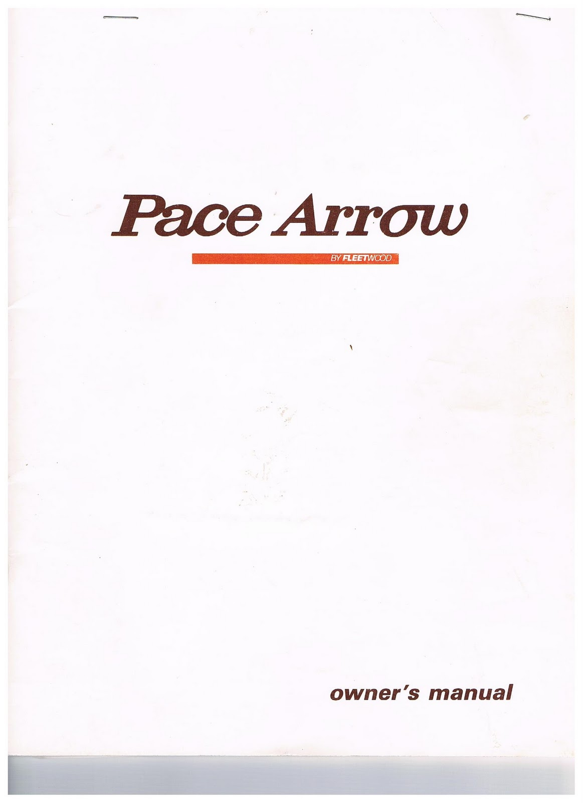 1983 Fleetwood Pace Arrow Owners Manuals 1988 Manual Wiring Diagram