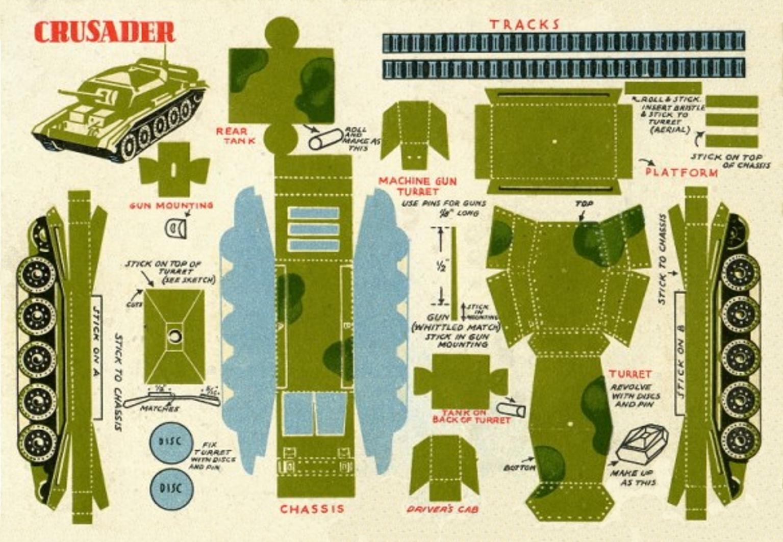 Как сделать заготовки танк из бумаги
