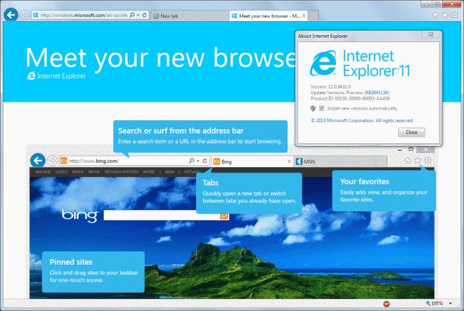Microsoft Internet Explorer 11 for Windows 7