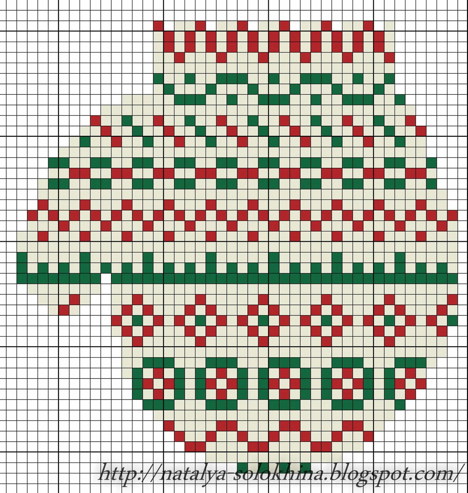 Схемы вышивок для варежек