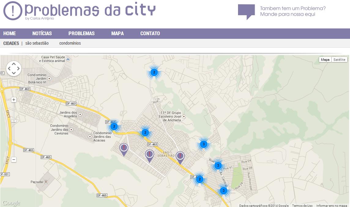 Morador cria site para cobrar gestor sobre problemas da nossa cidade
